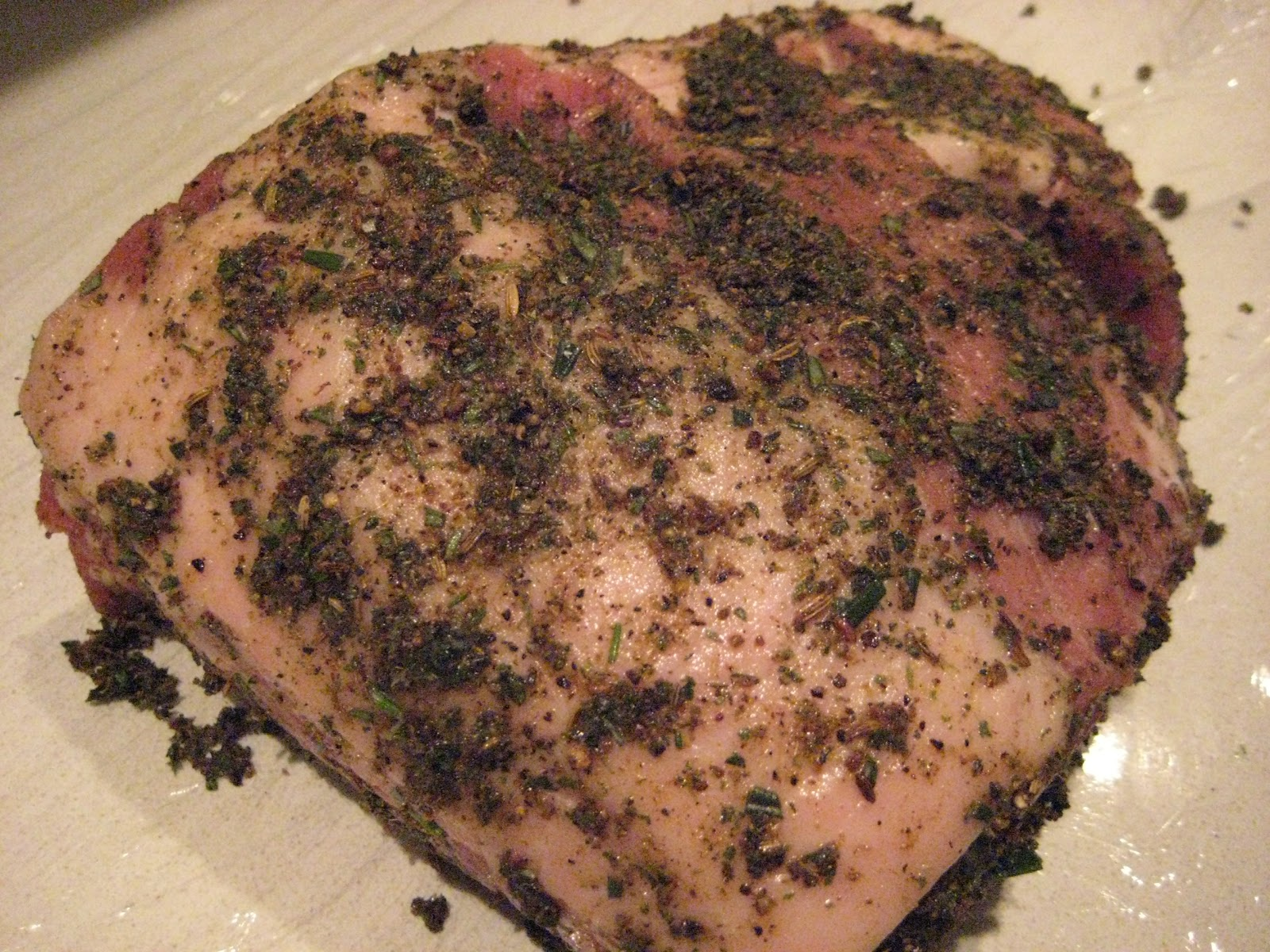 Lexi's Kitchen: SLOW ROASTED PORK SHOULDER WITH SAVORY ...