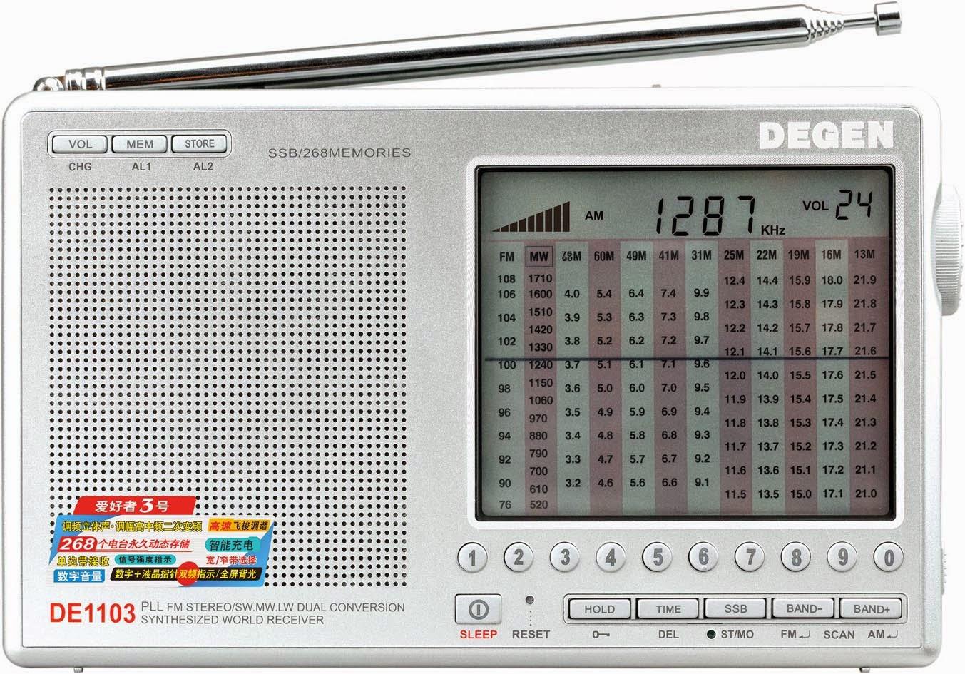 Обзор радиоприемника Degen DE-1103