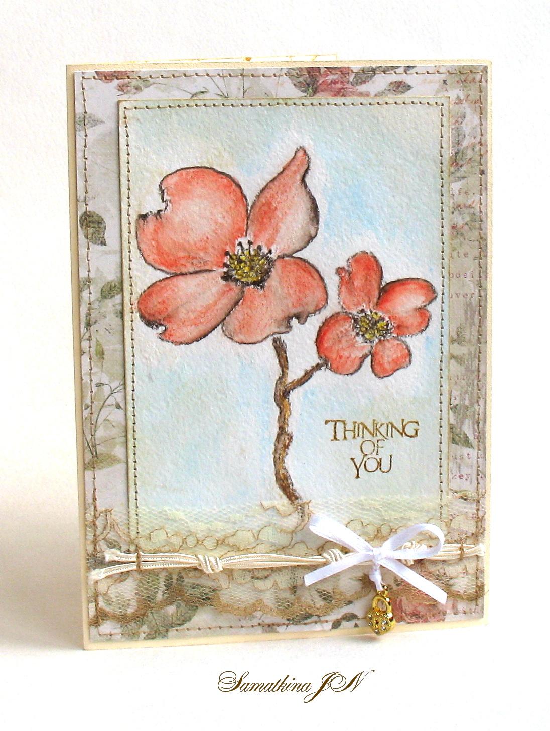 Рисуем открытку с цветами 820