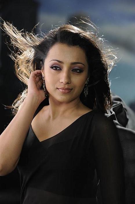 trisha in guard movie black saree , latest photos