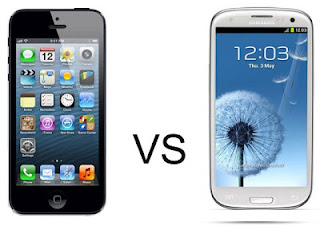 Duel of Screen of iPhone 5 and Galaxy S4