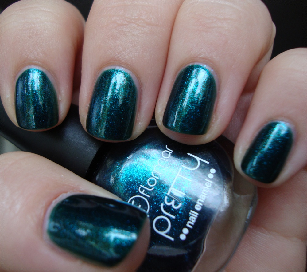 Lendoxia Teal Me About It Dark Turquoise Stone Nails