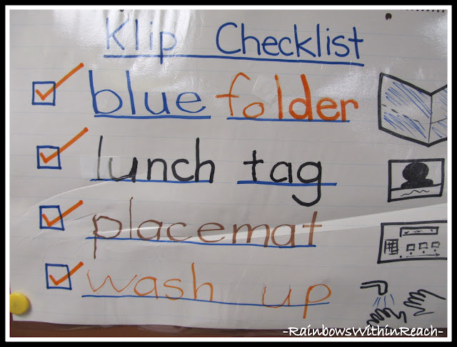 photo of: Checklist for School Routines (Checklist RoundUP via RainbowsWithinReach)