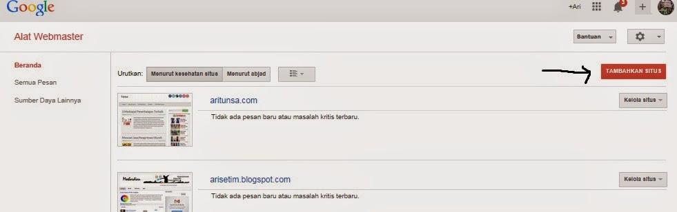 Cara Mudah Pasang Sitemap Blogspot