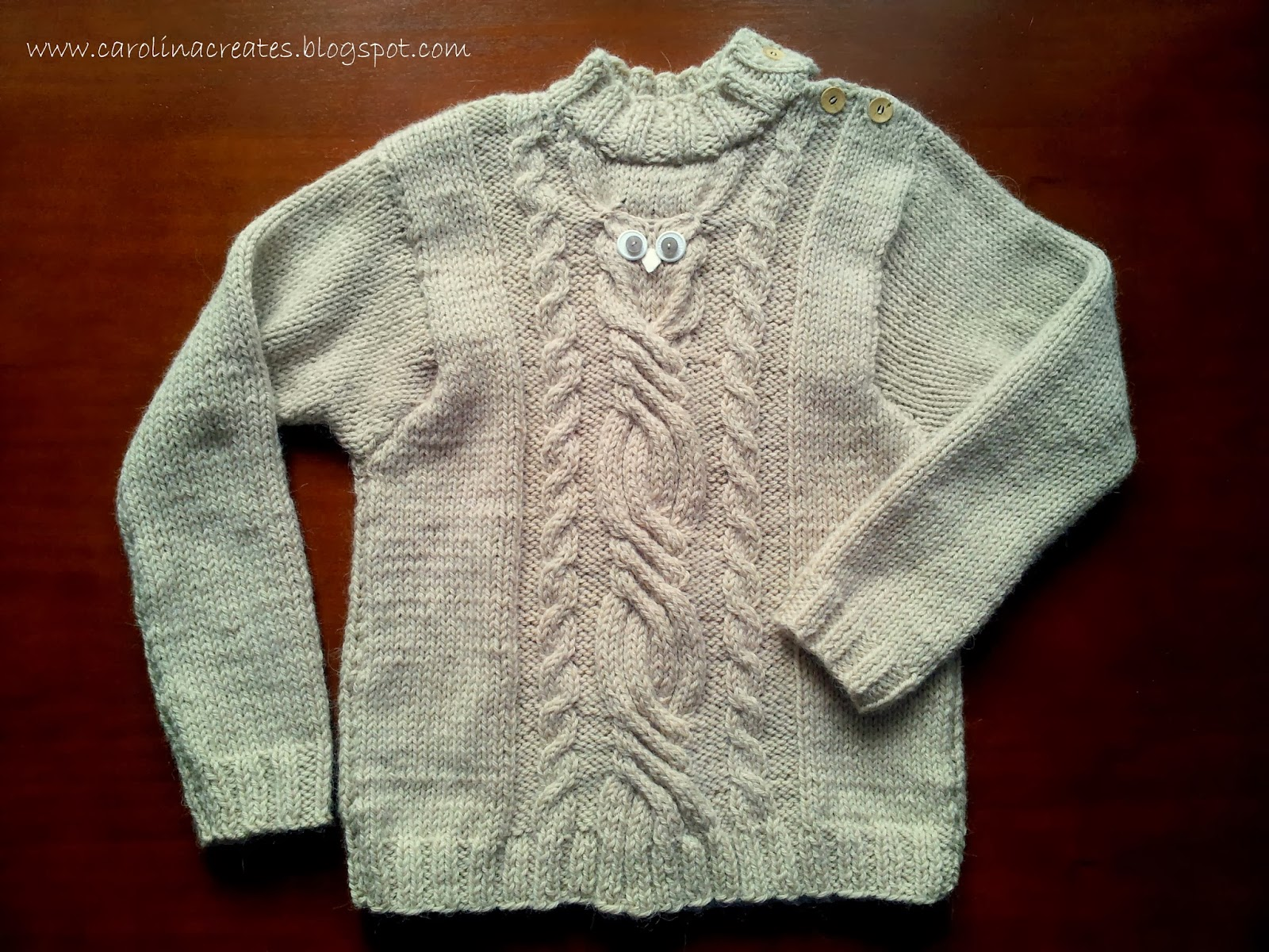 An Owl Cable Sweater