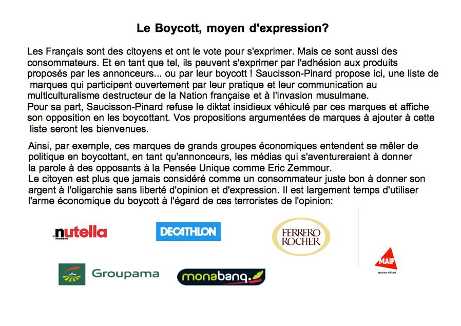 Le Boycott, arme politique.