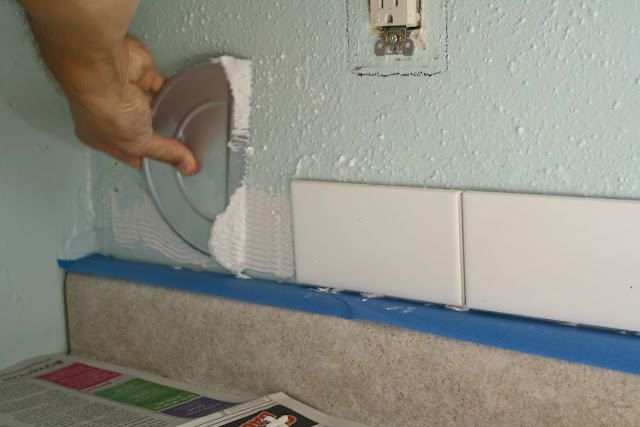 we purchased a tile installation kit from home depot that came wi