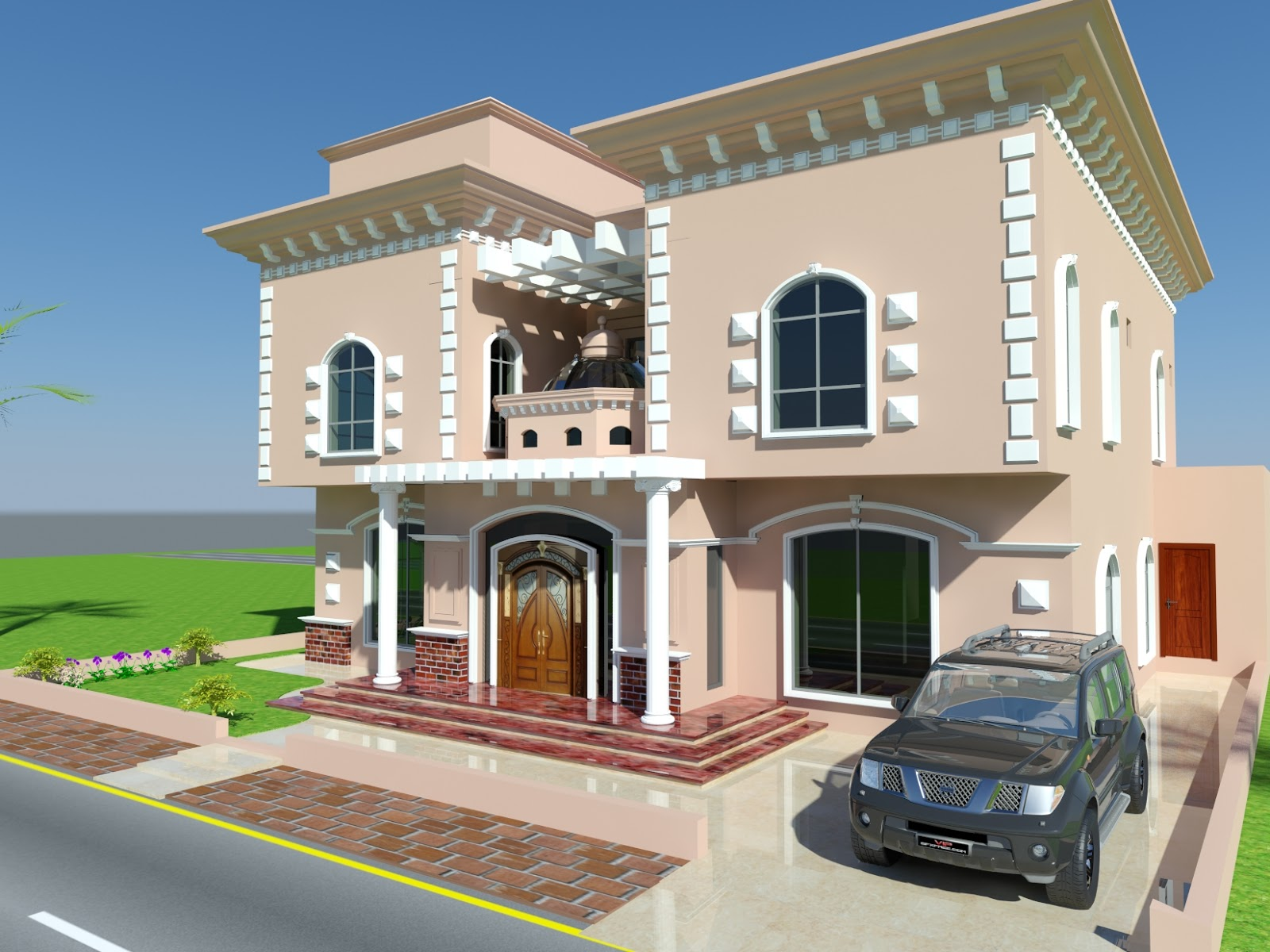Front Elevation Villas : D front elevation january