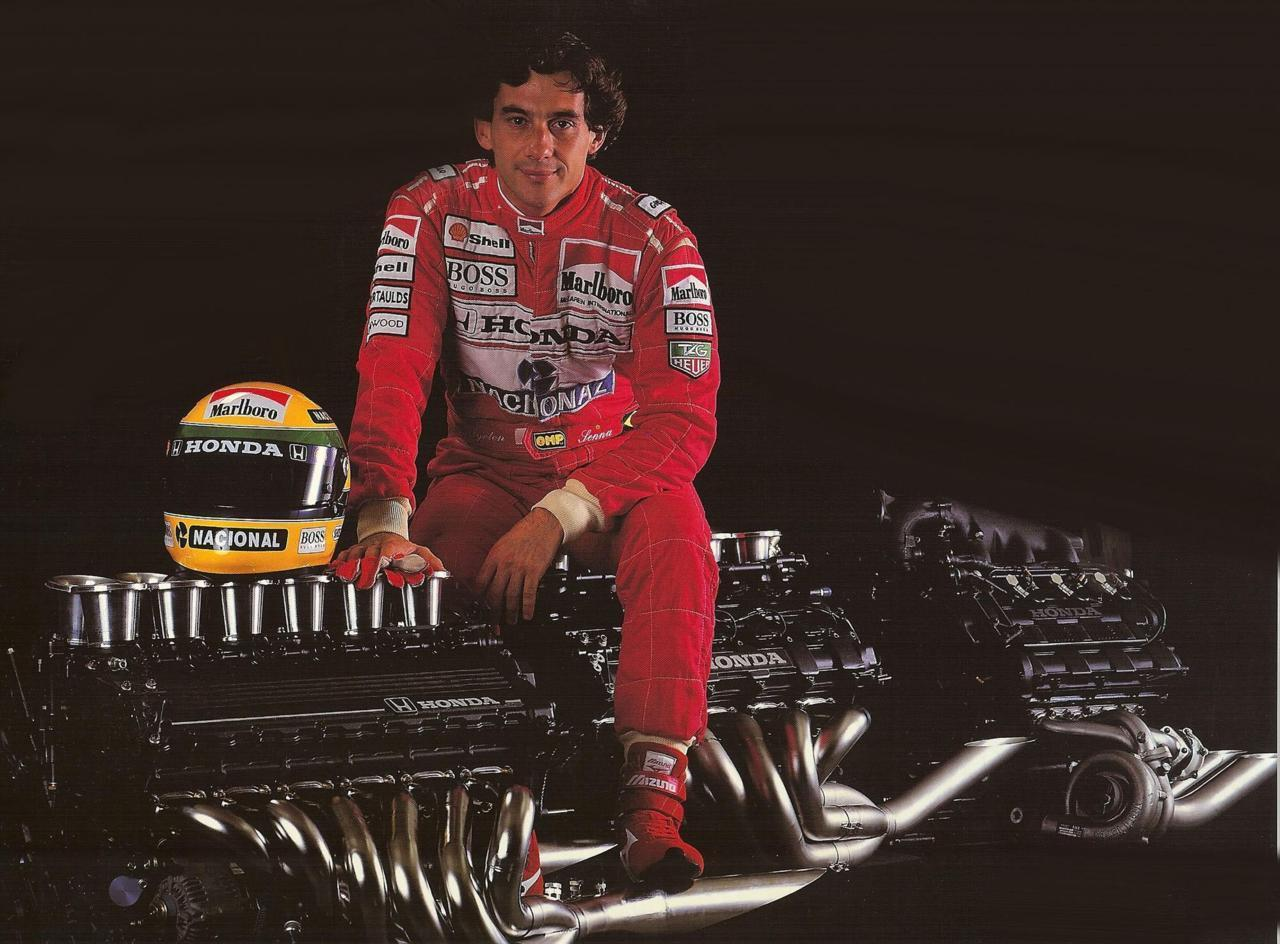 Ayrton Senna, Honda F1, V12, V10, V6 turbo