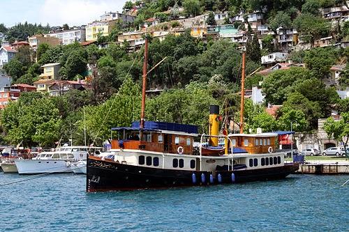Steam boat Gonca on Bosphorus