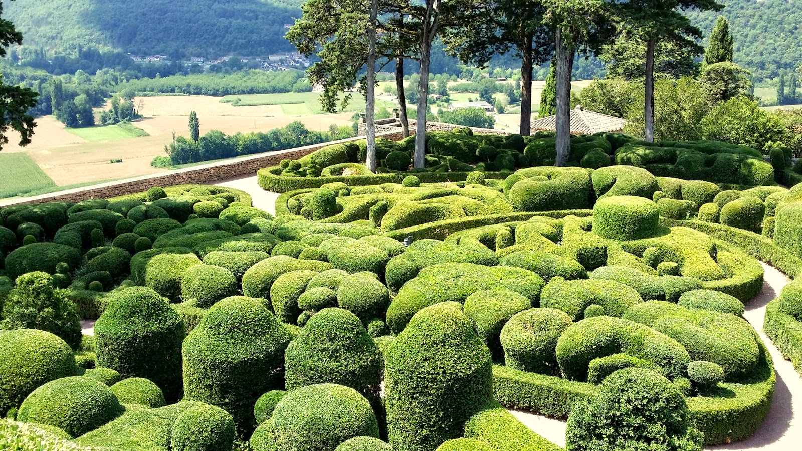 Our french garden in the beautiful dordogne marqueyssac for French garden