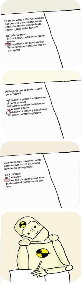 HUMOR - TEST - EXAMEN DE CONDUCIR