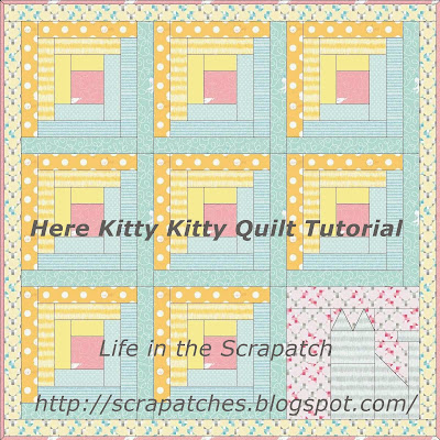 Here Kitty Kitty Quilt Tutorial