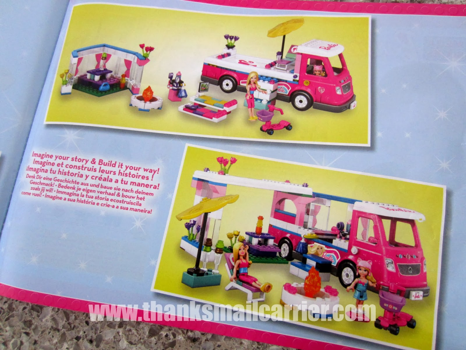 Mega Bloks Barbie camper instructions