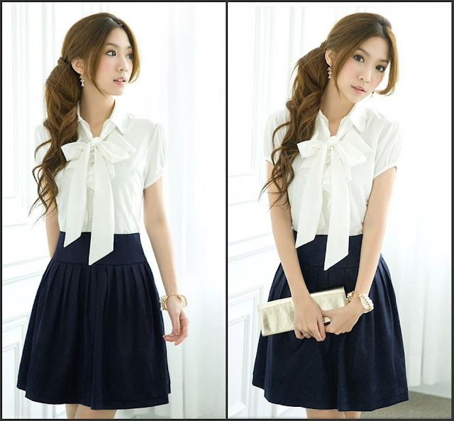 new fashion preppy style cute dresses