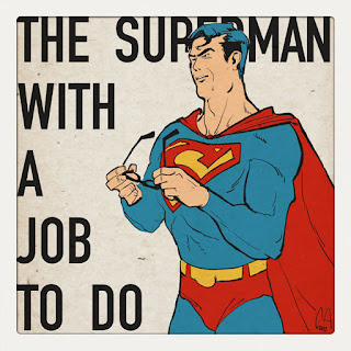 Curio and Co. Curio & Co. www.curioandco.com - Superman, The Superman man with a Job, illustration by Cesare Asaro