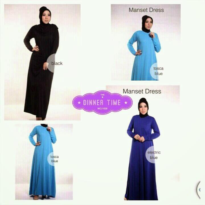 Koleksi Busana Muslim Dress Manset Gamis Terbaru