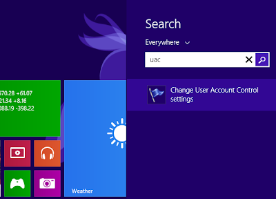 Nonaktifkan User Account Control (UAC) di Windows 8, 7 dan Vista