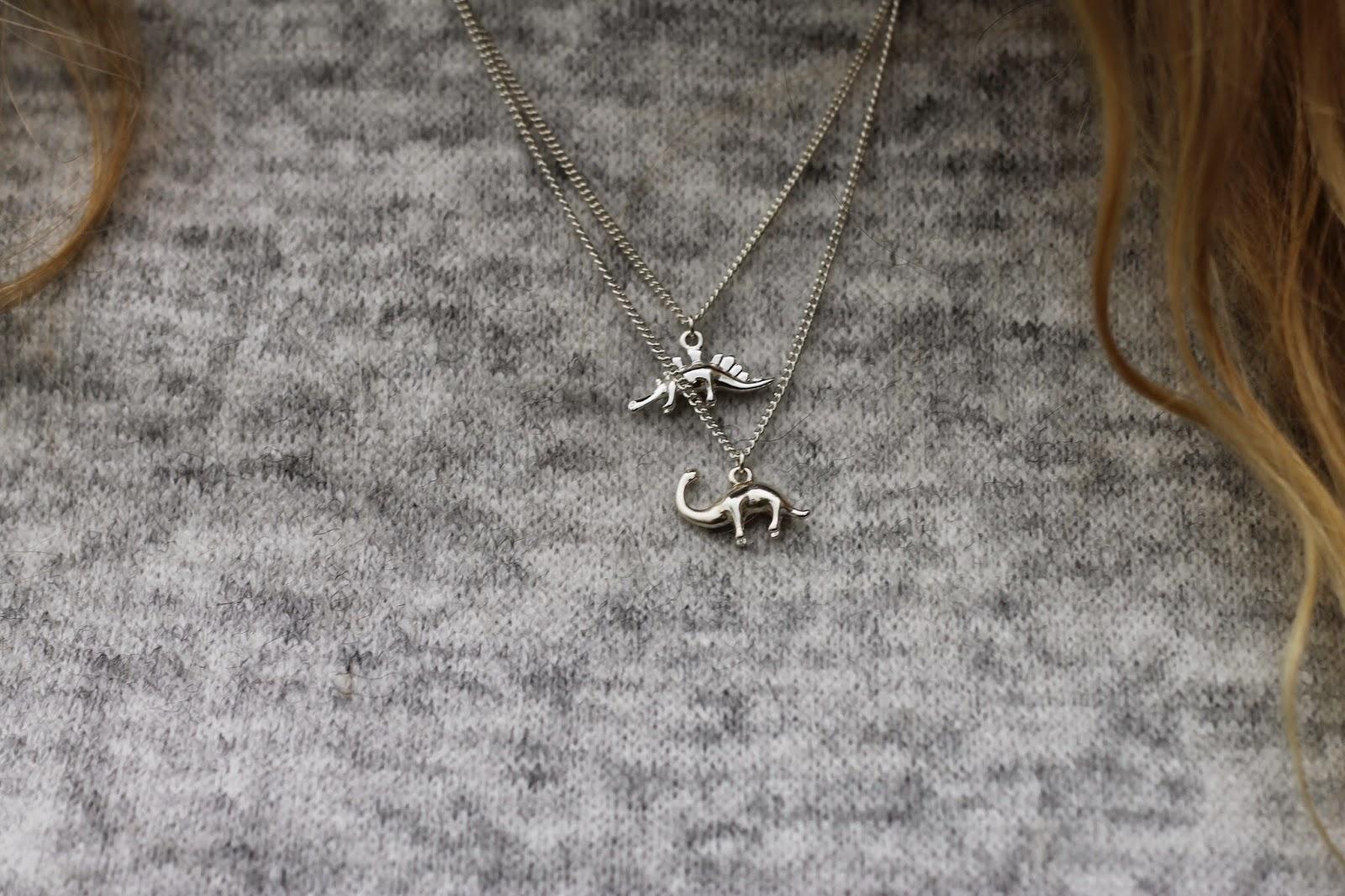 H&M Dinosaur Necklaces