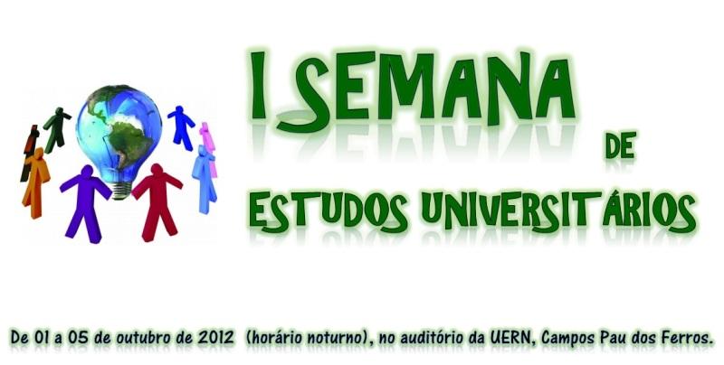 I SEMANA DE ESTUDOS UNIVERSITÁRIOS
