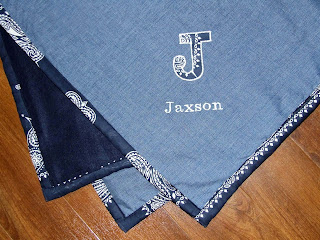 Personalized Hankerchief Baby Blanket
