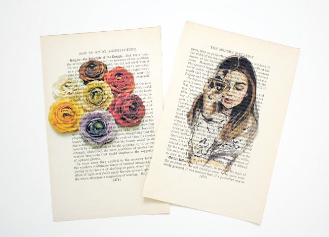 Easy diy art printing on book pages wonder forest for Cool life paint cost