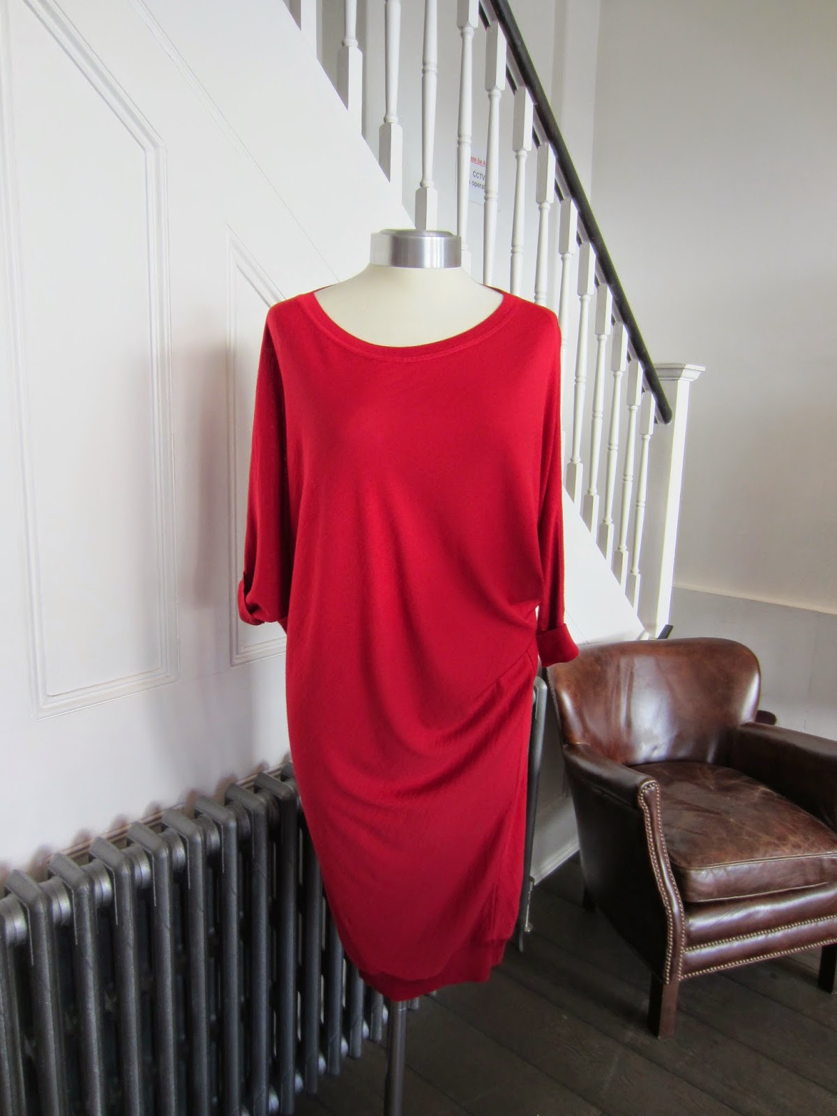 Alexander McQueen Red Sweater Dress