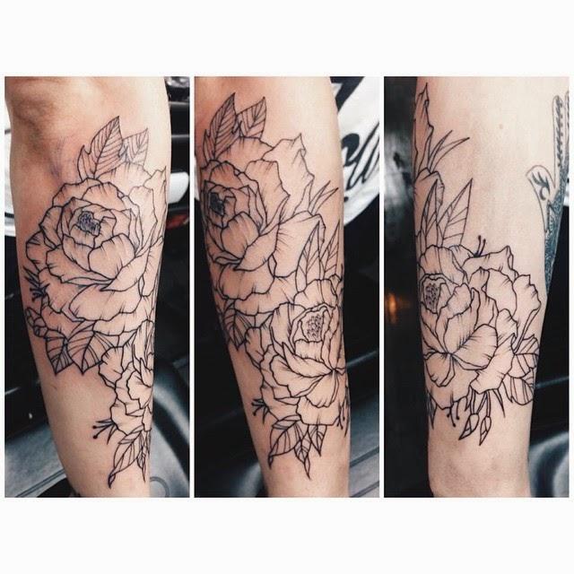 Peony Illustration Tattoo