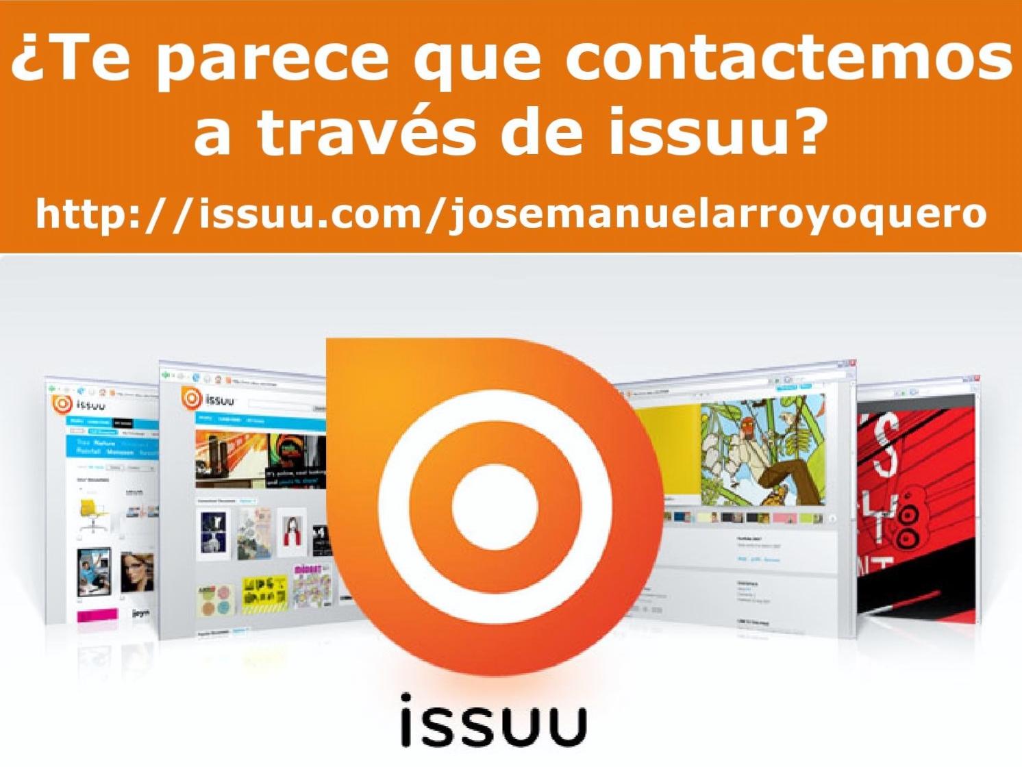 ¿Contactamos a través de ISSUU?
