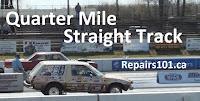 race cars on drag strip