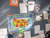 map with flat stanley students