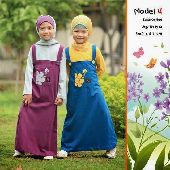Baju Kaos Muslim Anak Perempuan