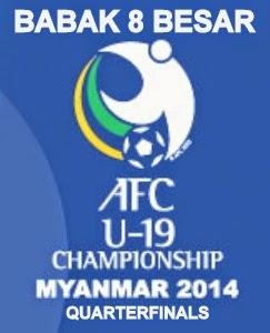 Jadwal Pertandingan Babak 8 Besar Piala Asia U-19 2014 Myanmar