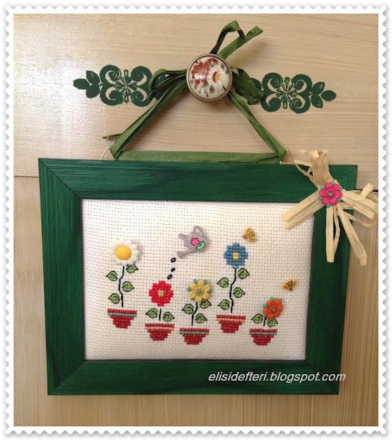 kaneviçe çiçek modeli