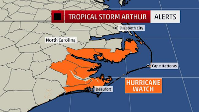 Hurricane Arthur Fourth of July