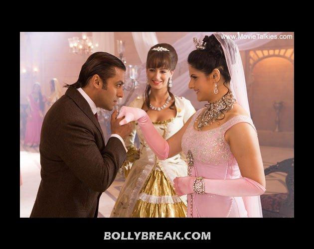 Old salman khan and young zarine khan - (11) - Old  heros and young heroines- Rowdy Rathore to gadar
