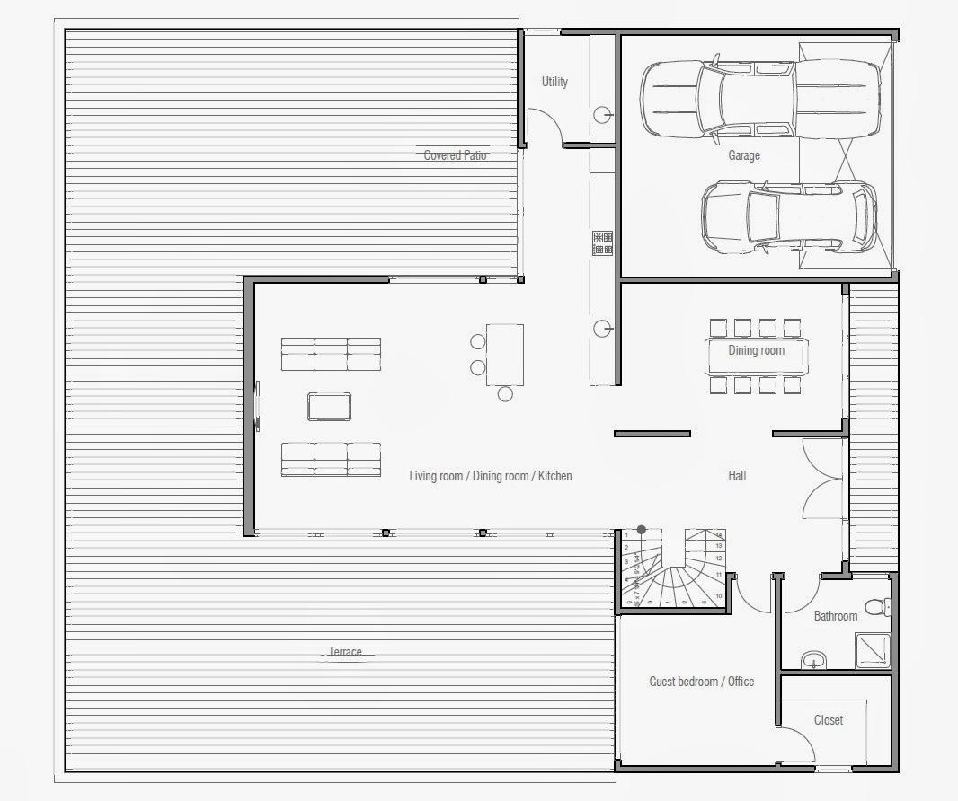 plantas de casas modernas planta de casa moderna ch193 On planta de casas contemporaneas