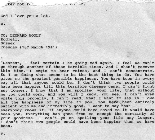 Virginia Woolfs Suicide Letter To Her Husband Leonard Woolf
