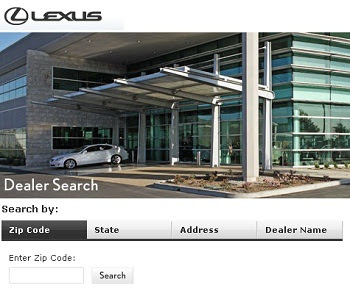 How to find Lexus locations using Lexus Dealership Locator?