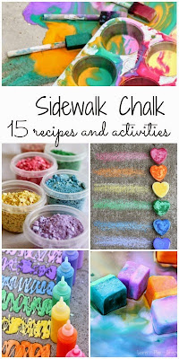 15 gorgeous recipes and unique activities with sidewalk chalk - perfect for summer fun!