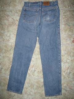 Quần jean lưng cao xanh