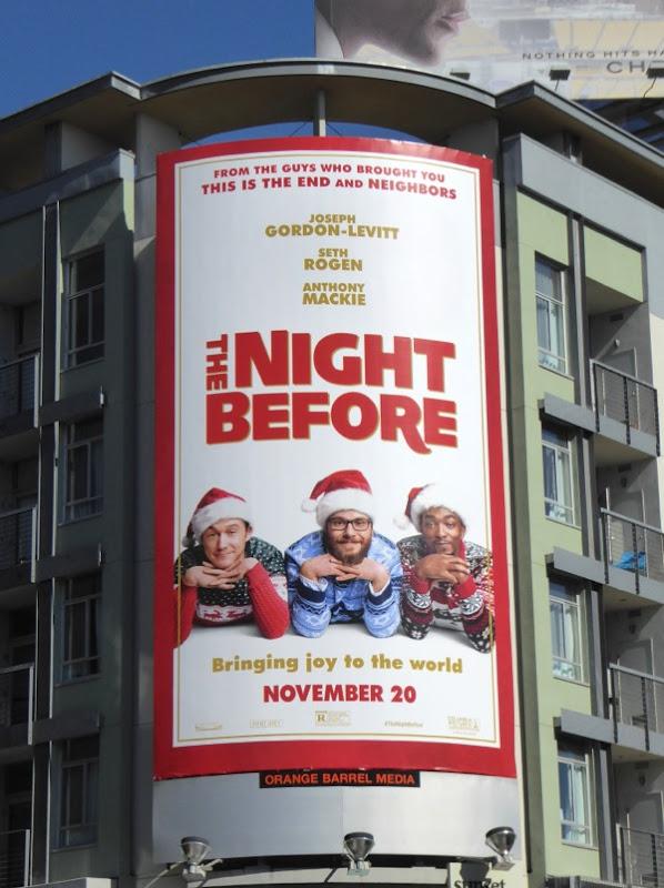 Night Before movie billboard