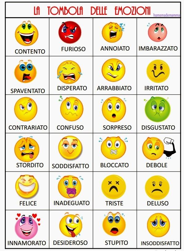 Recursos para mi clase: JUEGO DE LAS EMOCIONES (BINGO)