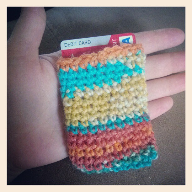 Free Crochet Pattern Gift Card : The Hippy Hooker: Card Sleeve Free Crochet Pattern! (Use ...