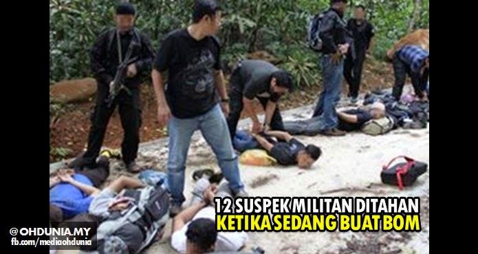 12 suspek militan ditahan ketika sedang membuat bom di Hulu Langat