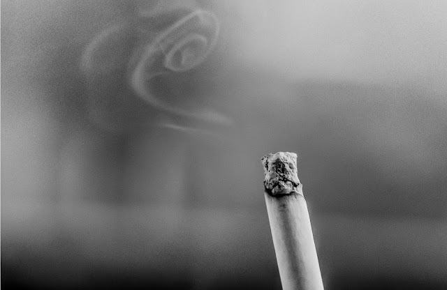 Random black and white photo of Cigarette Smoke