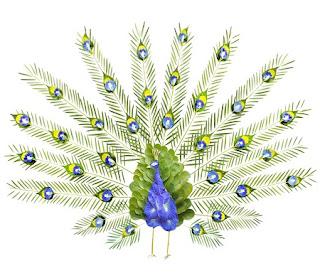 Aves Exóticas Hechas con Petalos de Flores