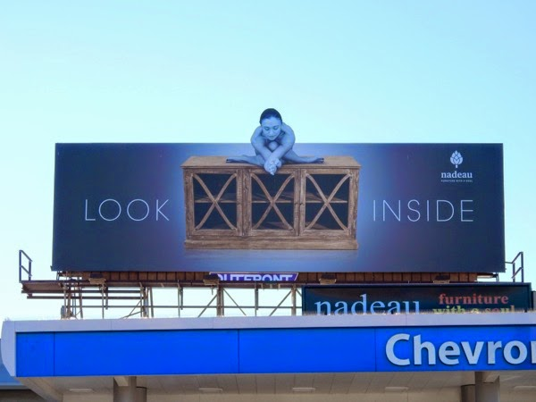 Nadeau furniture Look inside billboard
