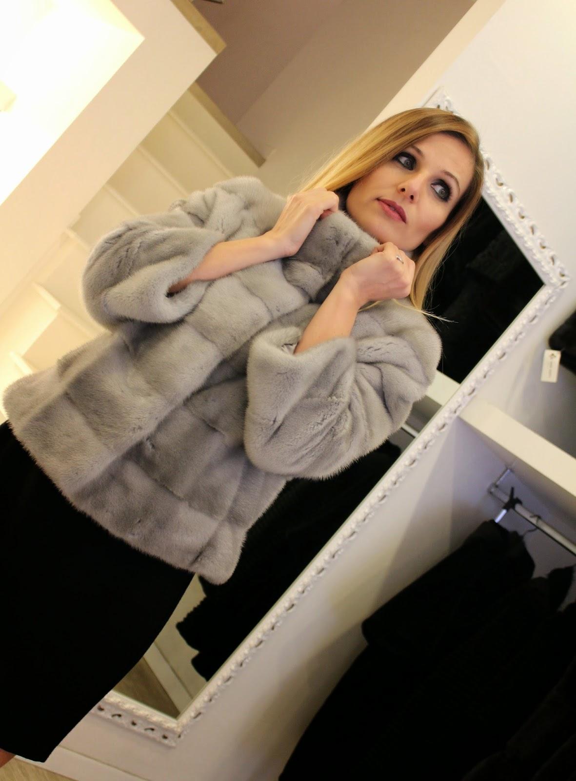 Eniwhere Fashion - Naoni Pellicce - Giacchino in visone zaffiro