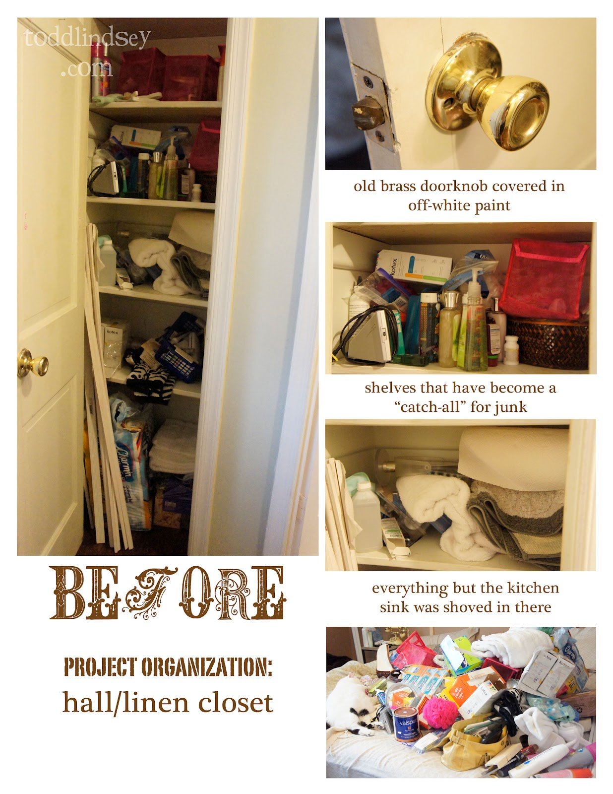 Note All The Junk That Had No Business In A Linen Closet (such As The  Quarter Round Trim). Anyway, The First Step Was To Take A Deep Breath...  And Then ...